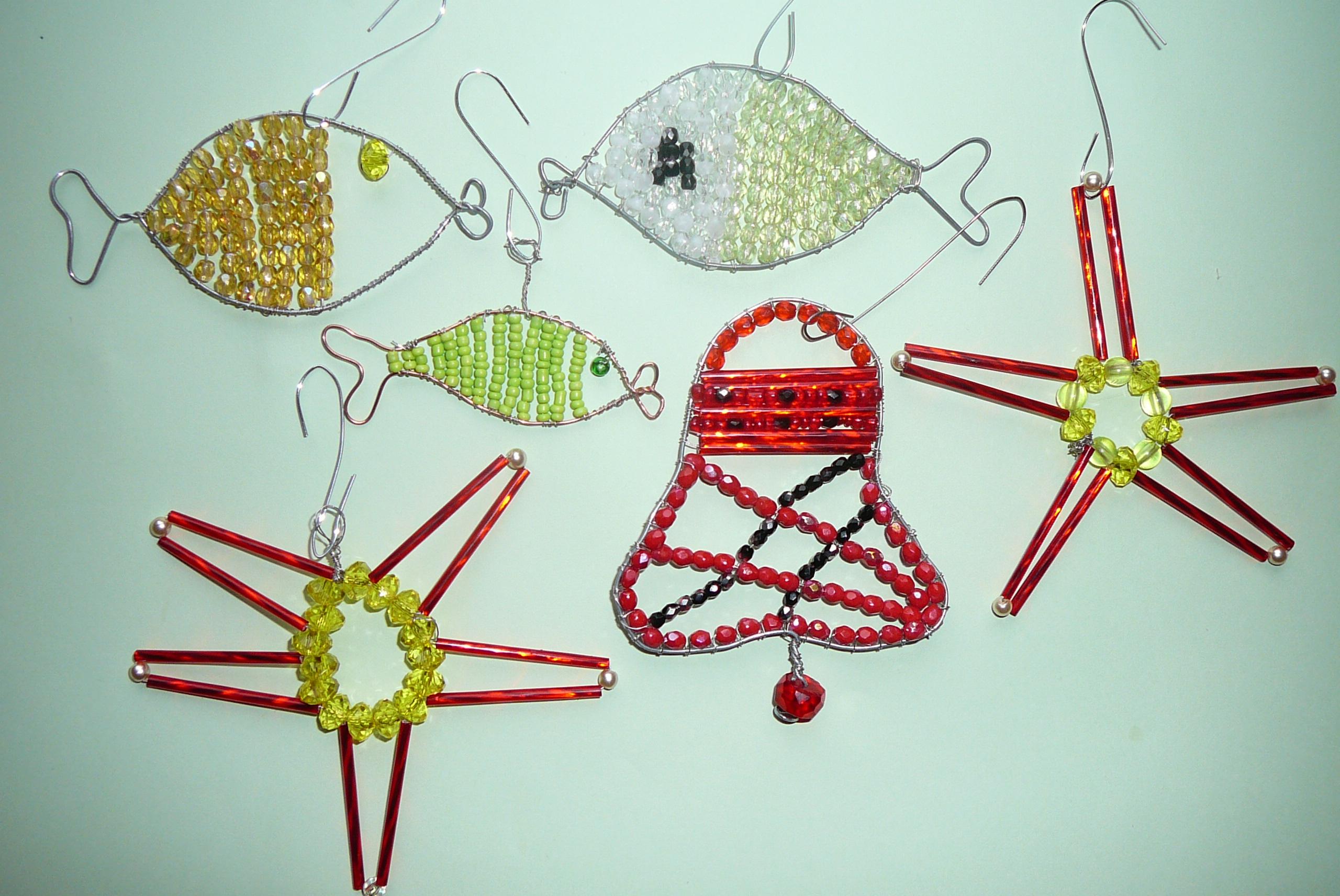 Drát, drátek, korálky